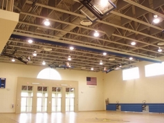Gym with Acoustic Baffles