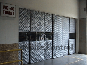 Sound curtains industrial noise control products for Sound proof wall padding