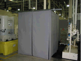 Floor Mounted Sound Curtain Enclosure