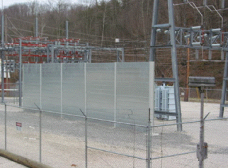 Engineered sound control wall installed at Transformer Station
