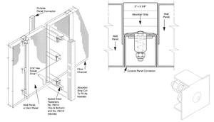 Removable Panel Sound Enclosure Drawing
