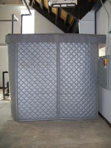 hydraulic pump station sound blanket enclosure