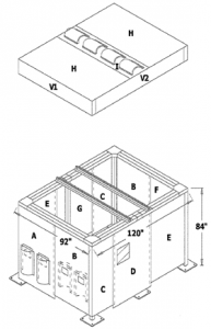 Enclosure with Roof 2