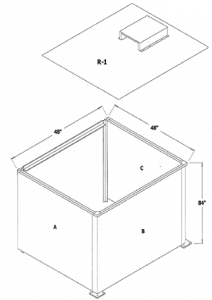 Enclosure with Roof