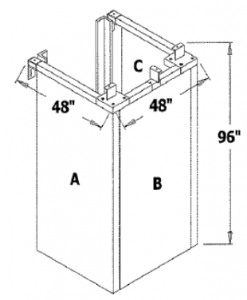 Three Sided Enclosure