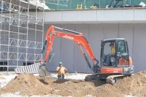Construction site sound fence