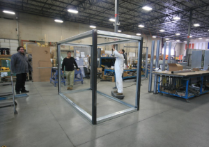 steel enclosure frame