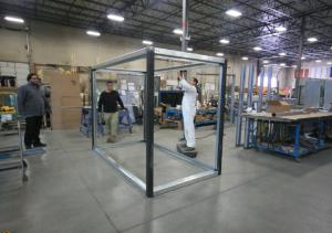 steel enclosure frame