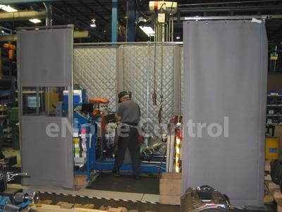 Sound Curtain Enclosure Design Example