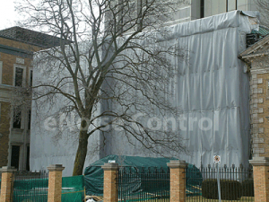 construction barricade fence sound curtains
