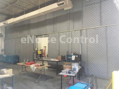 Machine Shop Sound Curtain Wall Enoisecontrol
