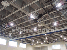 Sound Baffles Gym Ceiling