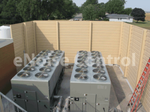 Chiller HVAC sound barrier walls