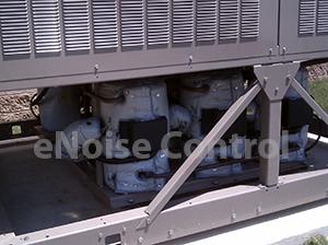 Multiple Compressor Sound Blankets in use