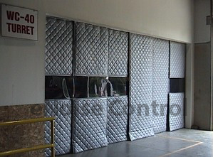 Sound Curtain Partition With Clear Windows