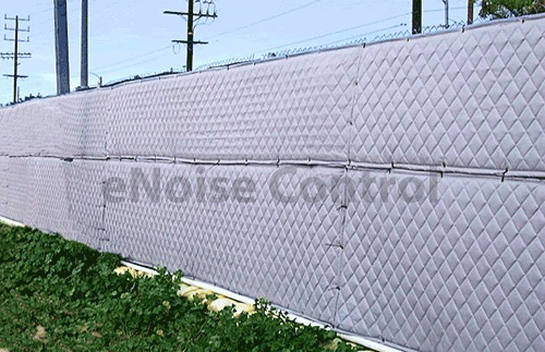 Outdoor Sound Blankets Are Often Specified To Reduce Construction Site Noise The Fencing Material Is A Visual Barrier