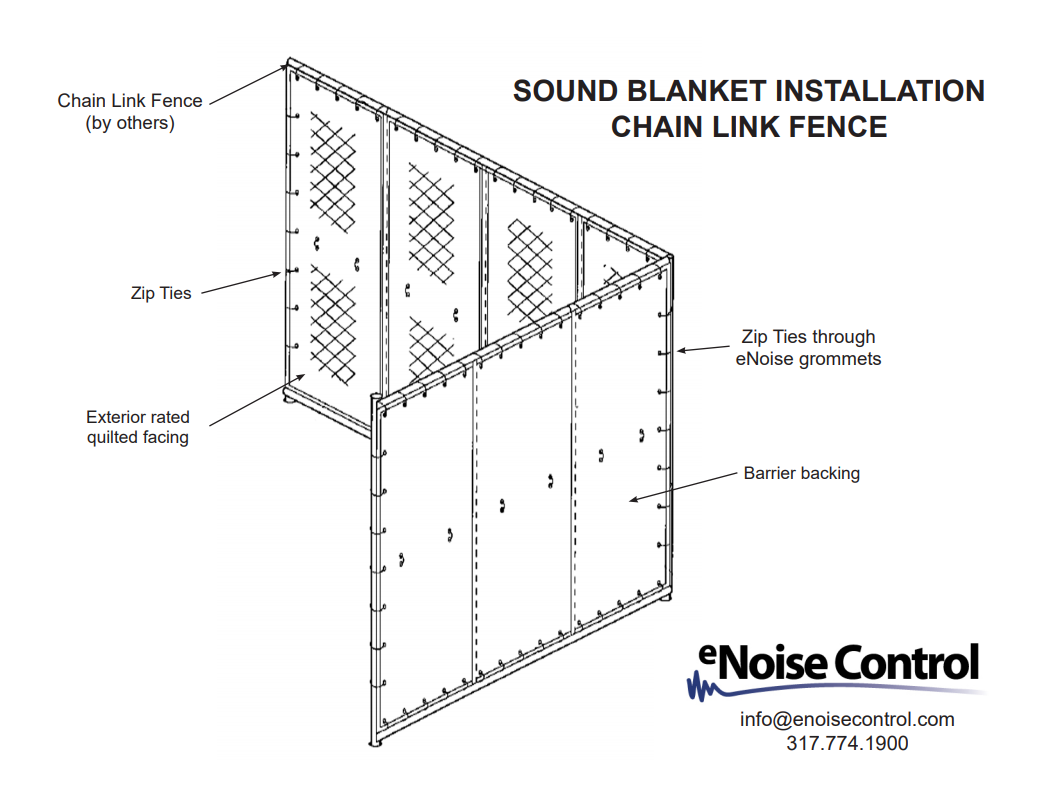 How to Install Outdoor Sound Blankets