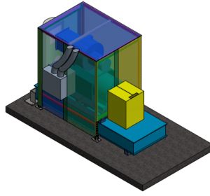 3D Model of Plastic Extruder Sound Curtain
