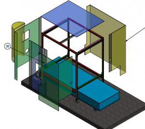 Model of Plastic Extruder Sound Curtain
